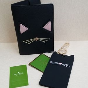 KATE SPADE PASSPORT HOLDER & LUGGAGE ID CLIP